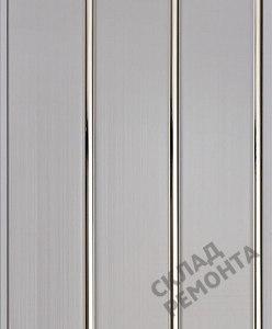 Панель ПВХ, WallPlast, 3-секционная, 0,24*3 м, белый с серебром – купить в Красноярске: цена, описание, фото. Интернет-магазин - Склад Ремонта